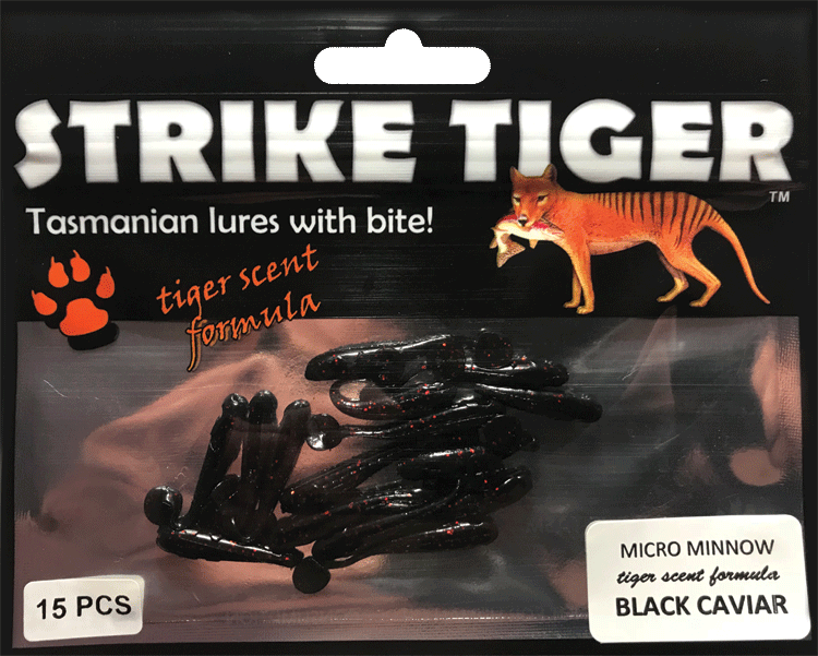 Strike Tiger micro minnow BLACK CAVIAR