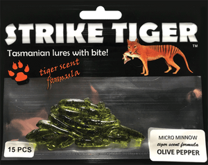 Strike Tiger micro minnow OLIVE PEPPER