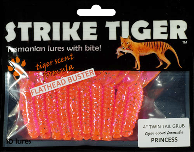 Strike Tiger 4 inch twin tail grub - PRINCESS (10 pack)