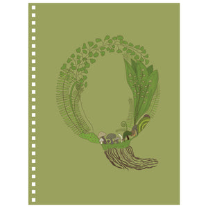 Forest Art Letter Q Notebook