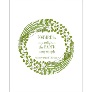 8x10-inch Forest Art Print, Religion Quote