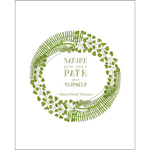 8x10-inch Forest Art Print, Path Quote