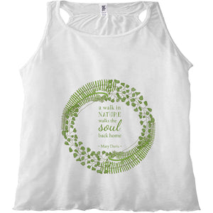 Forest Art Walk Quote Racerback Tank Top
