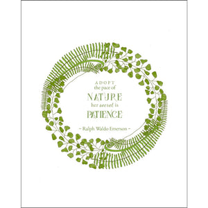 8x10-inch Forest Art Print, Patience Quote