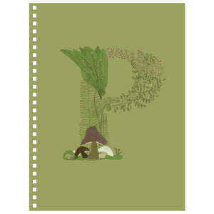 Forest Art Letter P Notebook