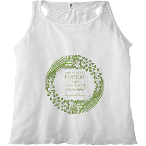Forest Art Mind and Soul Quote Racerback Tank Top