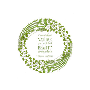 8x10-inch Forest Art Print, Beauty Quote