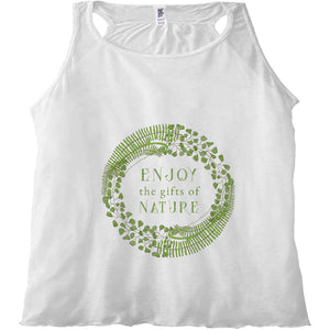 Forest Art Enjoy Quote Racerback Tank Top