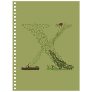 Forest Art Letter X Notebook