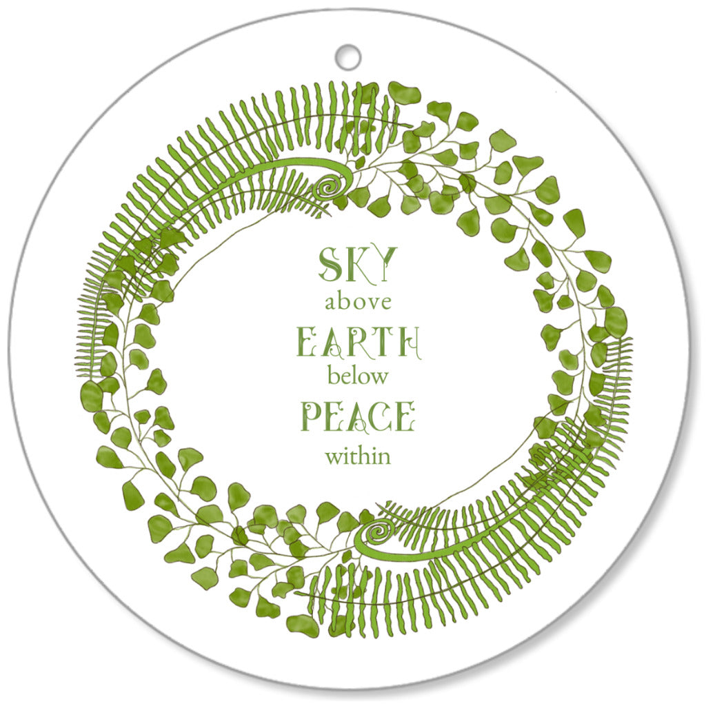 Forest Art Sky Quote Canvas Ornament