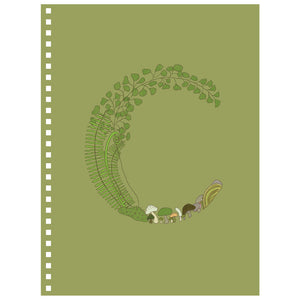 Forest Art Letter C Notebook