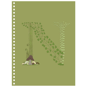 Forest Art Letter N Notebook