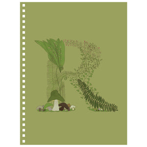 Forest Art Letter R Notebook
