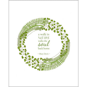 8x10-inch Forest Art Print, Walk Quote