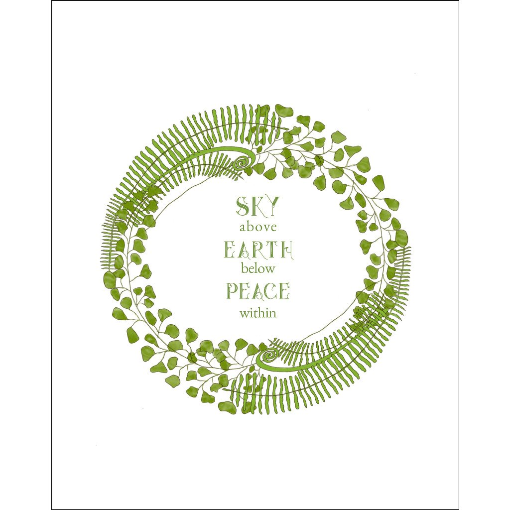 8x10-inch Forest Art Print, Sky Quote
