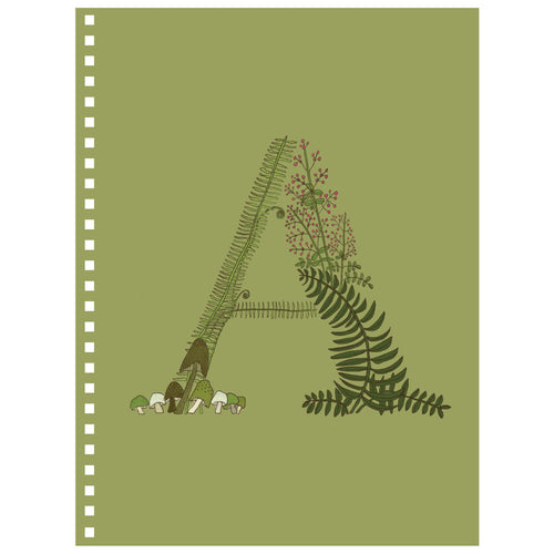 Forest Art Letter A Notebook