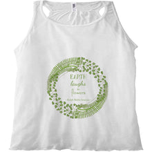Forest Art Flowers Quote Racerback Tank Top