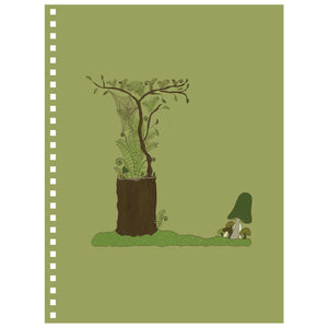 Forest Art Letter L Notebook