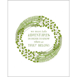 8x10-inch Forest Art Print, Adventures Quote