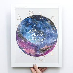 Tune into the Stars for this one-of-a-kind Zodiac Calendar. Zodiac Dates align in the circle below each sign, so you or that Zodiac Lover in your life will always know what sign the Sun is in. Constellations are gold foiled.