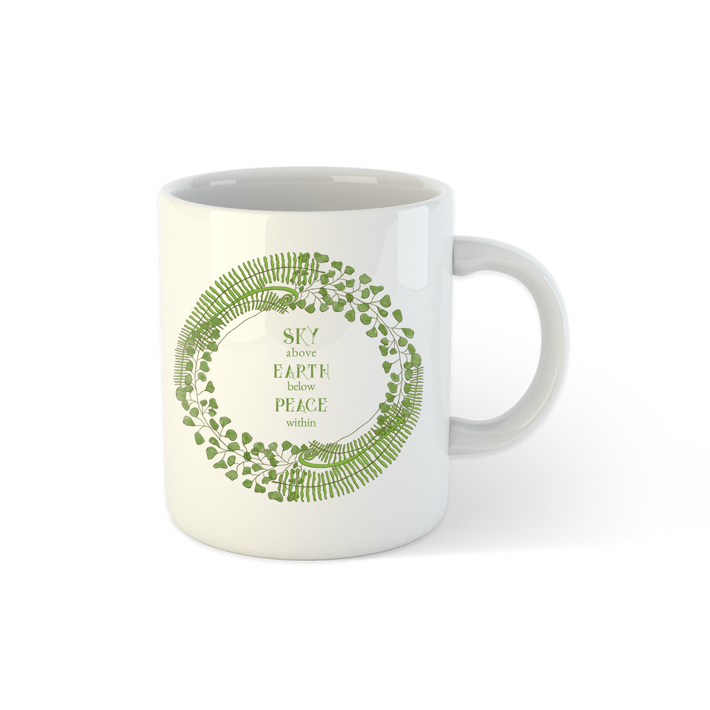 Forest Art Sky Quote Mug