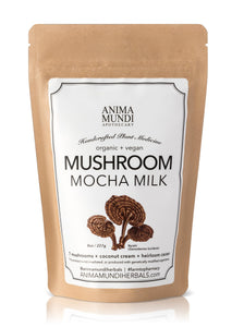 Think of this as your new favorite add on to anything milky and delicious. The perfect combination of heirloom organic cacao, our dreamy coconut cream powder along with our organic broken-cell-wall 7 mushrooms. Basically an instant creamer that you can add to anything to bump up the medicinal effects of the adaptogens into an exquisite frothy drink.