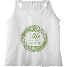 Forest Art Life Quote Racerback Tank Top