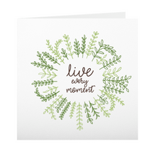 Live Every Moment 5x5-inch Square Notecard Set, Pack of 10