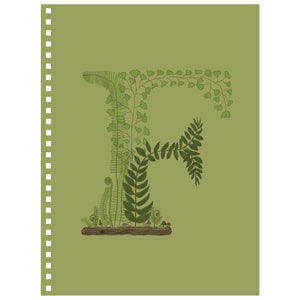 Forest Art Letter F Notebook