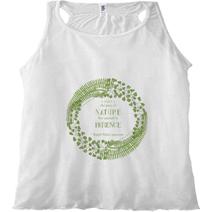 Forest Art Patience Quote Racerback Tank Top