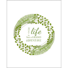 8x10-inch Forest Art Print, Life Quote