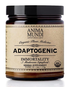 The beloved Anima Mundi organic, wildcrafted and US-grown 7-mushroom super powder mixed with the finest cacao. Cacao is a cardiovascular tonic known for its dopamine and blood sugar regulation, while the 7-mushroom super powder contains some of the most treasured mushrooms since ancient times, known for their adaptogenic capacity. They are master longevity tonics known to support all main organ systems (and beyond).