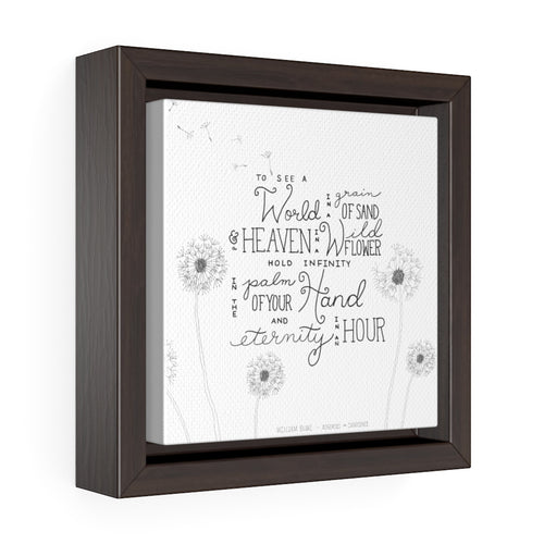 Heaven in a Wild Flower Square Framed Premium Gallery Wrap Canvas