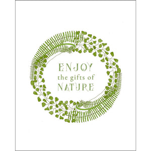 8x10-inch Forest Art Print, Enjoy Quote