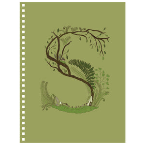 Forest Art Letter S Notebook