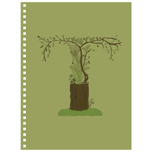 Forest Art Letter T Notebook