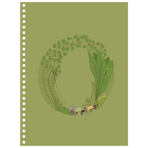 Forest Art Letter O Notebook