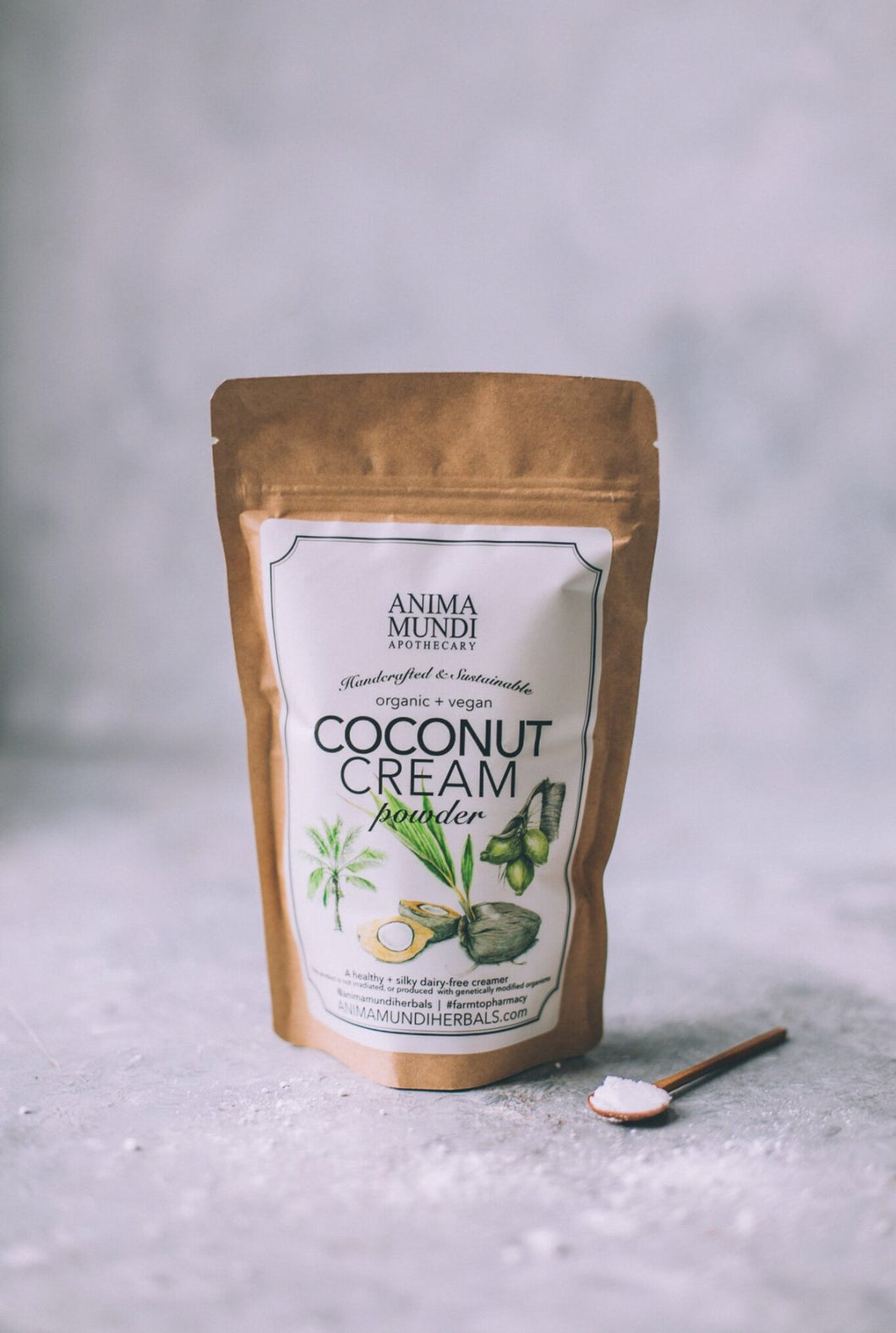 A luxurious creamy powder loaded with healthy oils and fiber. The naturally occurring MCT oils in coconut can nourish our gut, our skin, our brain, and beyond! Coconut meat is touted to be healthful for our immune system, nervous system, blood sugar, fat-protein metabolism, and healthy heart functions. It has a great amount of bulking fiber which maximizes digestive capabilities as well as bowel elimination.