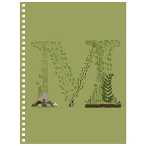Forest Art Letter M Notebook