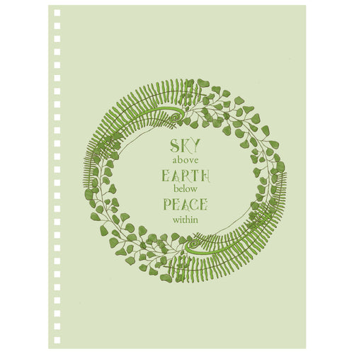 Forest Art Sky Quote Notebook