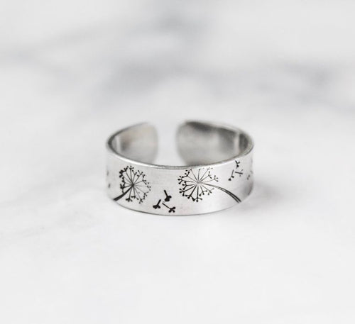 Dandelion Adjustable Ring