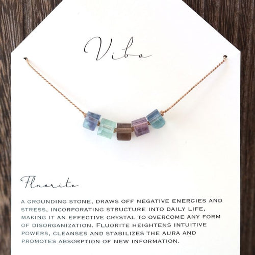 5 Stone Necklace | Fluorite