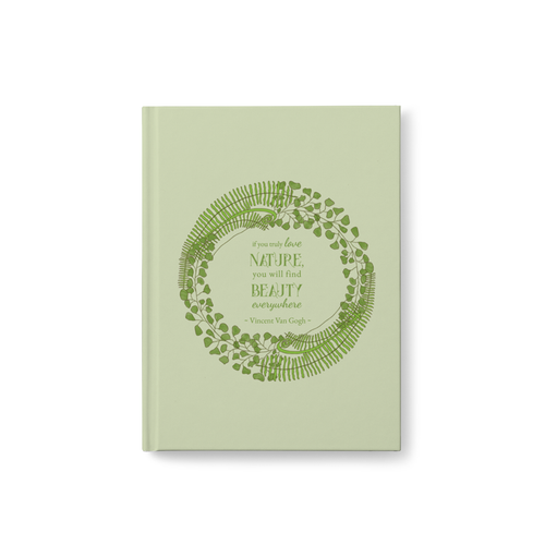 Forest Art Quote Hardcover Journal