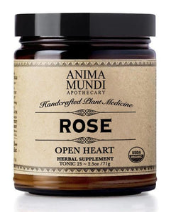 Rose petals and their medicine help to move and open a heart which has tightened emotionally and spiritually. A wonderful nervine, great for uplifting the mood and alleviating depression, rose also has antispasmodic, aphrodisiac and sedative qualities, as well as being anti-inflammatory. Rose helps regulate menstruation as well as stimulate the digestion.
