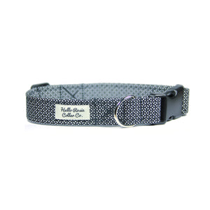 BLACK & WHITE GEO DOG COLLAR