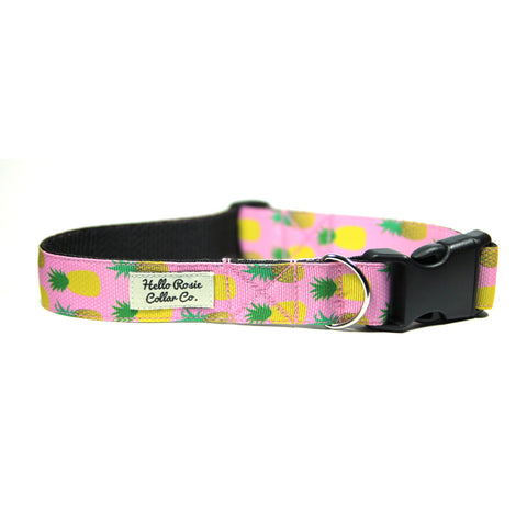 PINK PINEAPPLE - Dog Collar