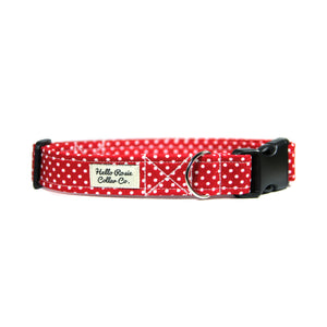 RED POLKA DOT DOG COLLAR