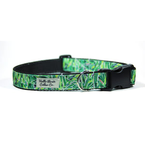 TROPICAL GREEN - Dog Collar/Leash