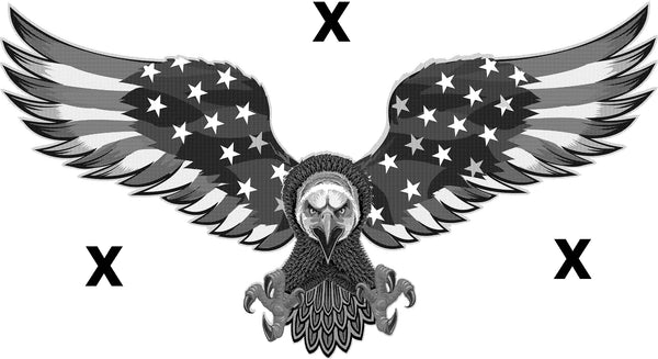 American eagle with the american flag wings - Bald Eagle- High Detail HD  Airbrush stencil