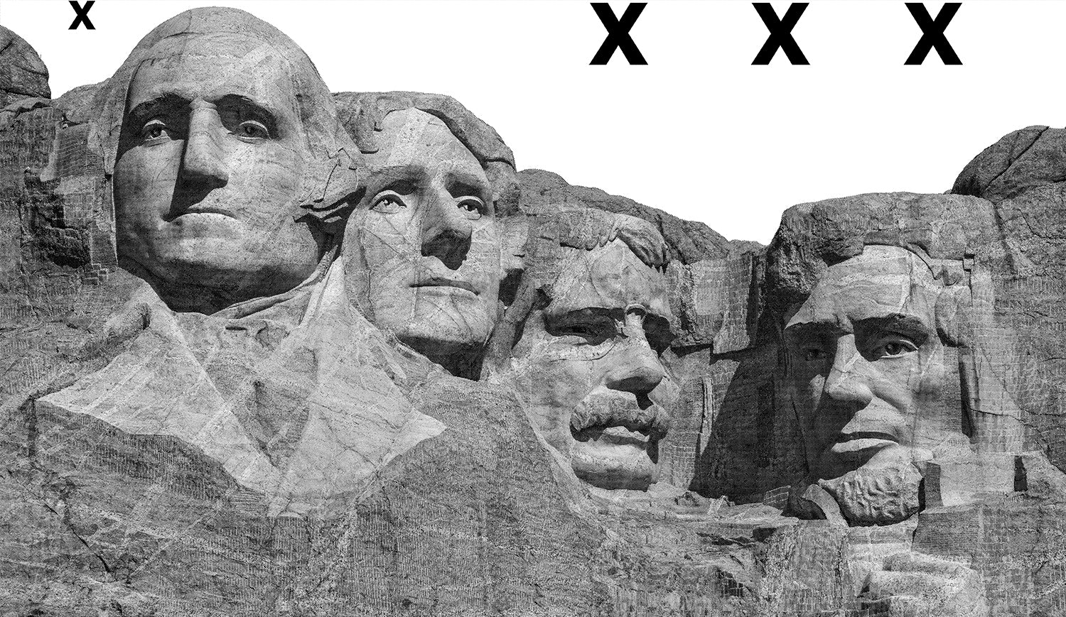 Mount Rushmore National Monument - American presidents statues- Airbrush Stencil